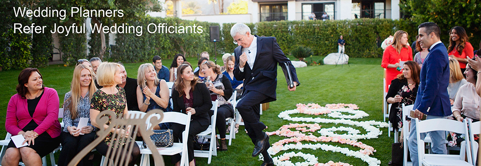 Wedding Planners Refer Joyful Wedding Officiants