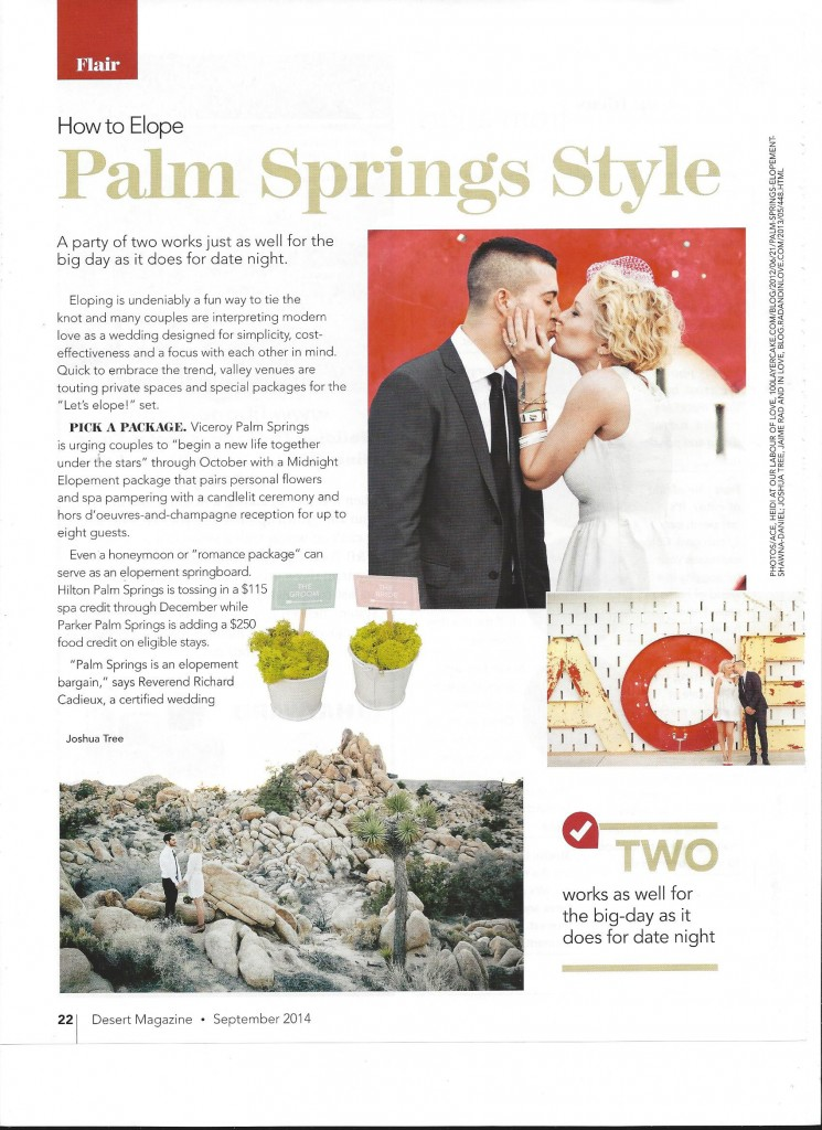 Desert Magazie Elope Article Page 1